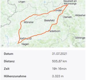 Mehr geht kaum an einem Tag: 500km zum Steinhuder Meer und zurück